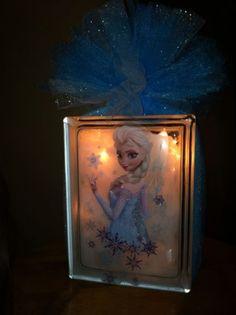 Disney's Frozen Glass Block Night Light. To order email me at jdhollenbeck10@gmail.com