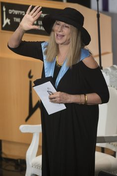 """You can now call her """"doctor."""" Barbra Streisand receives an honorary doctorate of philosophy from Hebrew University on June 17 in Jerusalem"""