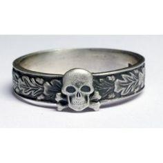 WW II German Ring with Skull.