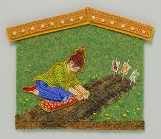 Природные мотивы в вышивке бисером по фетру от Joe Wood - Ярмарка Мастеров - ручная работа, handmade
