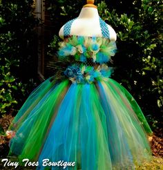 Peacock Inspired Tutu by Tiny Toes Bowtique on Etsy, $49.00  www.facebook.com/tinytoesbowtique2010