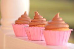 vanilla chiffon cupcakes with chocolate ganache buttercream