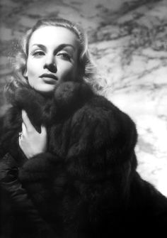 Carole Lombard. What a beauty.  Not a fan of fur, but this picture is gorgeous. Circa 1937-38