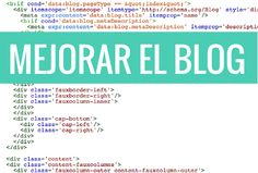 Mejorar el blog