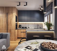 _ 🏠 I Really Enjoy This Modern And Sleek Space! 💬 Do You Appreciate The Colour Scheme? 📣 Design By Loft Kitchen, Kitchen Room Design, Best Kitchen Designs, Kitchen Cabinet Design, Home Decor Kitchen, Home Kitchens, Modern Kitchen Interiors, Modern Kitchen Cabinets, Contemporary Kitchen Design