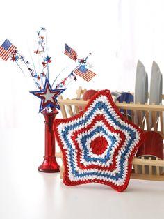 Stars and Stripes Dishcloth | Yarn | Free Knitting Patterns | Crochet Patterns | Yarnspirations