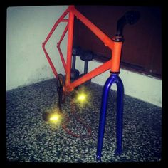 Plasti Dip your bicycle frame to protect it and give it a removable, cool look!