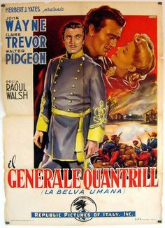 DARK COMMAND (1940) - John Wayne Claire Trevor & Walter Pidgeon - Directed by Raoul Walsh - Republic Pictures - Movie Poster.