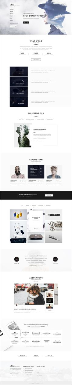 eMia is a professional #PSD Template for creative #Agencies & #Portfolio websites with 6 homepage layouts and 15 organized PSD pages download now➩ https://themeforest.net/item/emia-creative-agencies-portfolio-psd-template/17844530?ref=Datasata