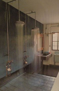 open shower. industrial.