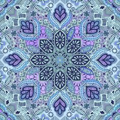 Gypsy Lace in Purple and Blue fabric by micklyn on Spoonflower - custom fabric