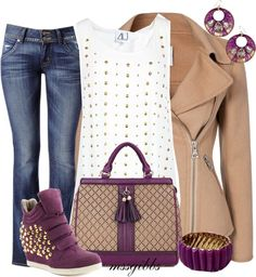 """""""Studded Sneakers"""" by mssgibbs ❤ liked on Polyvore"""