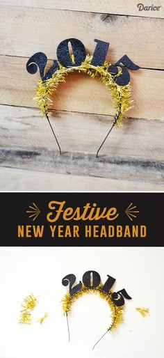 This DIY headband may be for New Years, but we think it would be perfect as a graduation headband too!
