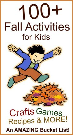 An AMAZING collection of Fall activities for kids- so many great ideas!