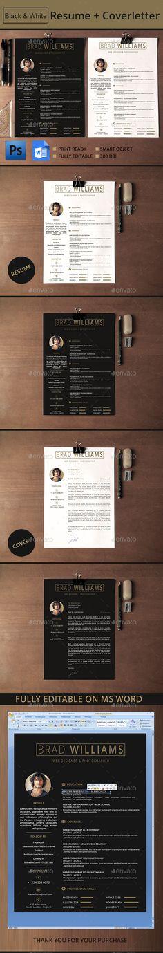 Resume Template PSD #design Download…