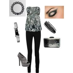 """""""Black and Grey"""" by heather767 on Polyvore"""