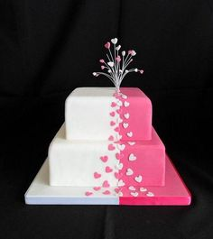 Simple but sweet #cake #valentine