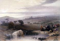 The Holy Land; Louis Haghe (Print made by); David Roberts (After); Jerusalem, April 1839.