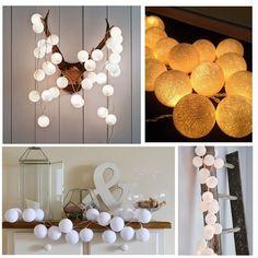 LAMPKI dekoracyjne Cotton Ball Lights 10 KUL!
