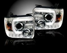 Recon Clear Projector Headlights with Smooth OLED Technology (14-16 GMC)