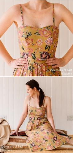 Summer in London Dress  Oh, girl, this design by Seasons of East is so mind-blowing! If you are a fan of classic vibes and feminine pieces of clothing, you will fall head over heels in love with this sewing pattern for a retro summer dress.  #sewingpattern #sewingprojects #sewingcrafts #sewingtutorials #sewingdress #summersewing Sewing Tutorials, Sewing Crafts, Sewing Projects, Sewing Patterns, London Summer, Retro Summer, Piece Of Clothing, Free Pattern, Feminine