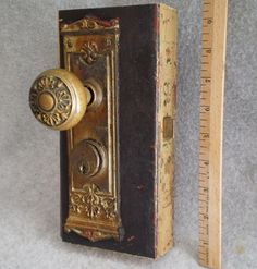 Lovely set antique door hardware, still attached to the door. Removal not included. Antique Door Hardware, Entry Door Hardware, Entry Doors, Selling Antiques, Door Handles, Ebay, Door Knobs, Entrance Doors, Door Knob