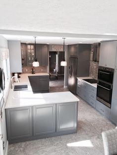 IKEA Bodbyn gray kitchen