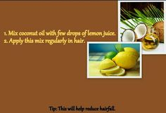 Reduce hairfall