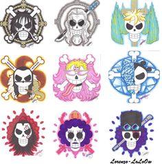 One Piece Jolly Roger by Lorenzo Pinello One Piece Logo, One Piece Tattoos, Pieces Tattoo, One Piece Ace, Anime One Piece, Manga Anime, Otaku, The Pirate King, Anime Episodes