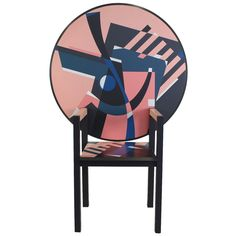 Alessandro Mendini Limited Zabro Chair Table for Zanotta, Italy | From a unique collection of antique and modern armchairs at https://www.1stdibs.com/furniture/seating/armchairs/