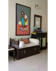 Interior Living Room Design Trends for 2019 - Interior Design Ethnic Home Decor, Indian Home Decor, Home Decor Furniture, Furniture Design, Kids Furniture, Indian Interior Design, Indian Interiors, Living Room Decor, Dining Room