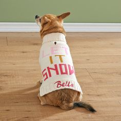 Personalized Let It Snow Pet Sweater