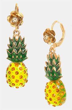 Betsey Johnson 'Rio' Pineapple Drop Earrings