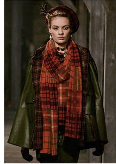 Patchwork Scarf/Shawl chanel-tartan-trend-2013.  i like the colors in this.  wish I could do something kinda like this but more simple.