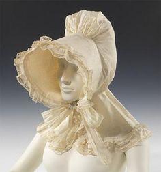 American Day Bonnet 1835 Cotton