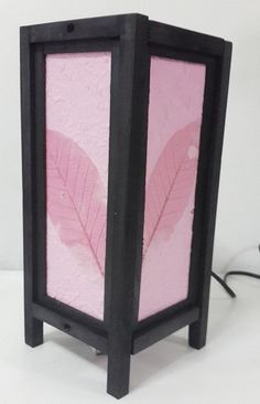 cute art pink leaves nice decor style bedside table by candoall