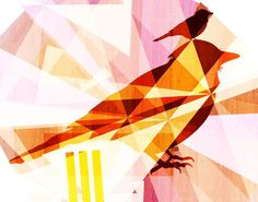 "Tabitha Bianca Brown's Lookout Birds digital illustration. 8""x10"". $20.00"