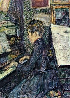 Henri de Toulouse Lautrec - Mademoiselle Dihau Playing the Piano by irinaraquel, via Flickr