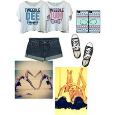 Bestfriends ❤ by kaileerenee on Polyvore featuring Mother and Converse