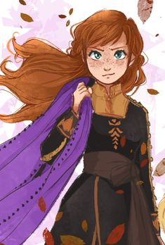 Queen of My Castle — drew-winchester: I'm not gonna hold it in 'cause. Disney Princess Fashion, Disney Princess Art, Disney Fan Art, Princess Anna, Disney Dream, Disney Fun, Disney Frozen, Frozen Anime, Frozen Art