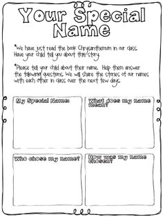 Great start of the year activity. Reading Chrysanthemum and then having students find out what their name mean.
