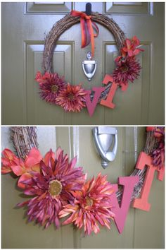 Simple VT wreath. I may try it