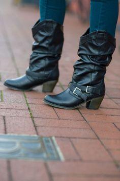 LEI Deena Black Boot #Walmart
