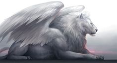White winged lion - creatures of Atlantis?