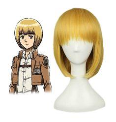 Attack on Titan Armin Arlart Cosplay Wig