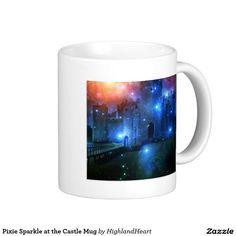 Pixie Sparkle at the Castle Mug Celtic Fantasy Art, Custom Mugs, Drinkware, Pixie, Tea Cups, Castle, Sparkle, Tableware, Tumbler