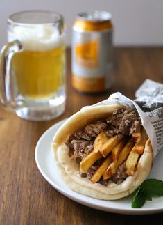 slow cooker spiced lamb gyros with frites and mint aioli (Climbing Grier Mountain) Crock Pot Slow Cooker, Crock Pot Cooking, Slow Cooker Recipes, Crockpot Recipes, Lamb Recipes, Greek Recipes, Dinner Recipes, Lamb Gyros