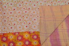 Antique vintage kantha quilt throw bedding by IndianHippy on Etsy, $49.00