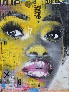 """MAMA LOVA. Technique mixte sur toile . 122 x 91.5 cm / Mixed medias on canvas. 36'' x48"""". Août 2013, August. Artiste-peintre: Tone. www.t-pakap.net"""