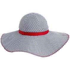 Eye-catching cotton hat with oversized brim in a nautical stripe offers shade turns heads. Accent tape along the base, zig-zag seam along the edge of the brim. Anna, Tommy Hilfiger Store, Cotton Hat, Shoe Bag, Zig Zag, My Style, Hats, Design, Fashion